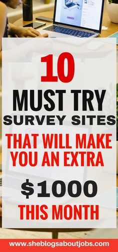 Top 10 Paid Online Survey Sites that are FREE to join! Click through to learn how you can make money with online survey sites. Earn Money Online Fast, Ways To Earn Money, Earn Money From Home, Make Money Fast, Make Money Blogging, Online Survey Sites, Online Surveys That Pay, Online Jobs, Survey Websites