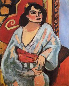 De Algerijnse - Matisse. Letterlijk venster en figuurlijk venster. Zie schilderij in schilderij.