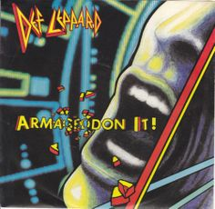 """Def Leppard / Armageddon It / Release Me / 7"""" Vinyl 45 Record & Picture Sleeve"""
