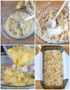 Starbucks Copycat Banana Nut Bread Banana bread is one of my all time favorites! This recipe is moist, and loaded with banana sweetness and topped off with crunchy walnuts. Pineapple Banana Bread Recipe, Strawberry Banana Bread, Banana Nut, Banana Bread Recipes, Banana Walnut Bread, Easy Banana Bread, Baked Banana, Starbucks Blueberry Muffin Recipe, Nutella Muffins