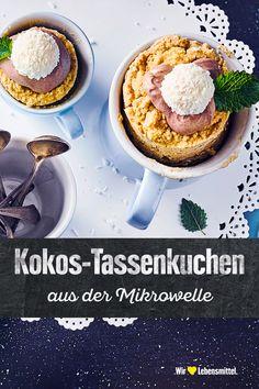 Eine gute Alternative zu Weizenmehl ist Kokosmehl, darum machen wir daraus einen saftigen, ruck-zuck Kokosmehl-Tassenkuchen, der in der Mikrowelle gebacken wird. #edeka #tassenkuchen #ohnemehl #mikrowelle #rezept
