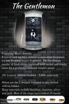 Jewelry in candles even has a candle for him, The Gentleman. This is the perfect gift for the gentlemen in your life. https://www.jewelryincandles.com/store/ambero