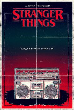 Stranger Things minimalistic poster art by Laura Streit
