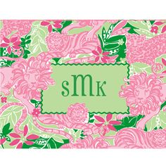 Lilly AND a monogram? Pretty perfect!