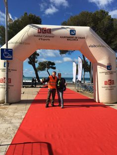 De start en finish met uitzicht op zee in Paguera