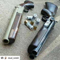 Can't go wrong with the classic Boom! Always a big fan of the single & double barrel 12 gauge! : Double tap if you are too! Tactical Shotgun, Tactical Gear, Weapons Guns, Guns And Ammo, Double Barrel, Double Tap, Custom Guns, Firearms, Shotguns