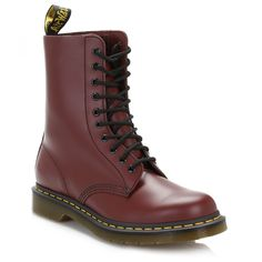 Dr. Martens Cherry Red 1490 Smooth Leather Boots