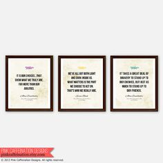 Harry Potter Inspirational Quote Prints Albus by PinkCaffeination