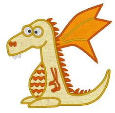 Dragon - machine embroidery fill stitch and applique design, digitized file - multiple sizes for hoop 4x4, 5x7 and 6x10. $2.99, via Etsy.