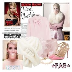 """""""60 Second Style: Last Minute Halloween Costume"""" by indhrios ❤ liked on Polyvore featuring Karl Lagerfeld, Chanel, Forever New and Valentino"""