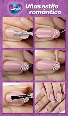 Mejora el aspecto de tus uñas con un diseño de estilo romántico que puedes hacer tú misma.