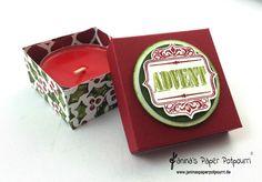 jpp - Maxi Teelicht Verpackung / Advent / Tea Light Box / Stampin' Up! Berlin / Nostalgische Weihnacht  www.janinaspaperpotpourri.de
