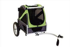 Doggyride Mini Dog Bike Trailer - Urban Green