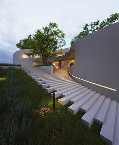 Art Et Architecture, Architecture Magazines, School Architecture, Amazing Architecture, Architecture Details, Millionaire Homes, Exterior Design, Landscape Design, House Design