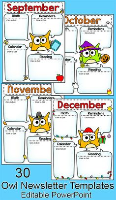 Parents will be excited to read the latest news from your classroom when you send home your fun and engaging owl themed newsletter! Includes 30 themed templates. Owl Theme Classroom, Classroom Jobs, First Grade Classroom, Kindergarten Classroom, Future Classroom, Classroom Activities, Classroom Organization, Montessori Elementary, Classroom Teacher
