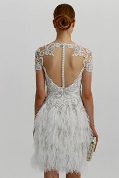Feeding my feathery dreams is this gorgeous #weddingdress from Marchesa #indulge