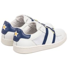 MOA Master of Arts - White Leather Disney Trainers | Childrensalon