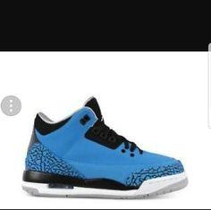 NEW never worn Nike Jordan Retro 3 Blue kids Authentic. NEW. never worn . kids toddler size 10c Jordan's . No box. Nike Shoes Sneakers
