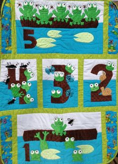 xoxo Grandma: Five little speckled frogs Quilts. Custom orders, or patterns, available.