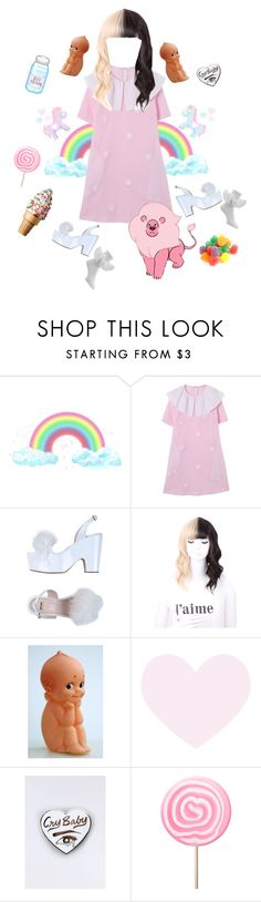 """""""Melanie Martinez inspired outfit"""" by dazzling-pink-elaina ❤ liked on Polyvore featuring Moschino Cheap & Chic"""