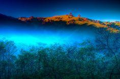 """Morning Fog Near Lake Eildon"" by Jason Green | Redbubble"