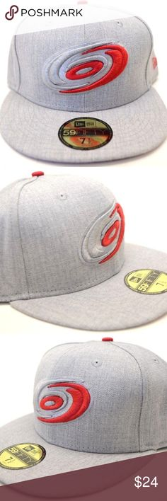 Men's New Era Carolina Hurricanes 59Fifty Sz 7 1/2 NEW!! Men's New Era Carolina Hurricanes 59Fifty Gray 7 1/2 Fitted Cap  TRUE FITTED  Closed back style available in true fitted sizing  STRUCTURED CAP Front panel structure for stability and classic cap shape   FULL CROWN  Tall and board profile of the original fitted cap  FLAT VISOR  Designed to be flat, but can cure as desired  Brand: New Era Size:7 1/2  100% Authentic   Stock #1757 New Era Accessories Hats