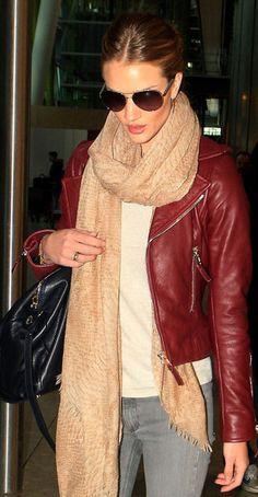 Rosie Huntington-Whiteley | Leather Trends 2013