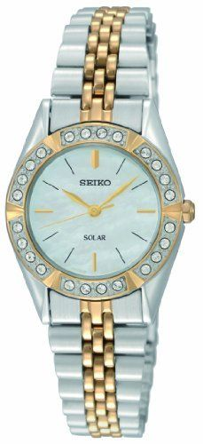 Seiko Women's SUP094 Dress Solar Classic Watch Seiko. $149.99. Water-resistant to 30 M (99 feet). No battery required. Solar. 24 Crystals. Hardlex crystal