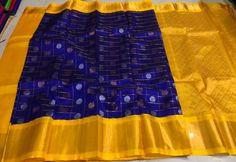 Beautiful Pure chiffon Saree with 5 big Motifs in Aari and sequins work. Comes with Running Blouse piece. Pattu Sarees Wedding, Kuppadam Pattu Sarees, Indian Sarees, Ikkat Saree, Latest Pattu Sarees, Bandhani Saree, Indian Gowns, Saree Floral, Indian Wedding Wear