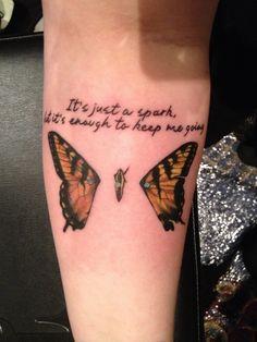 "Paramore ""last hope"" lyrics tattoo. I cannot wait to get a Paramore themed tattoo. Ugh."