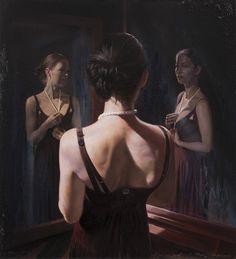 Jon Boe Paulsen (Jon Bøe Paulsen)-Oil-Portrait of Two Souls