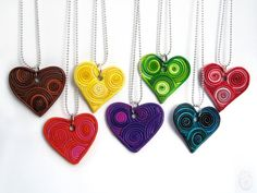 Custom Filigree Heart Polymer Clay Pendant by hacklock on Etsy, $30.00