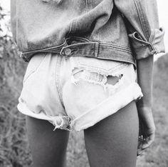 Cheeky...Shop One Teaspoon white denim shorts at MickeysGirl.com! #denim #shorts #distressed