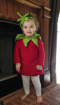 Strawberry Halloween costume homemade