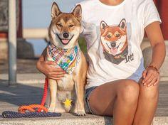 Girls custom pet tshirt with shiba