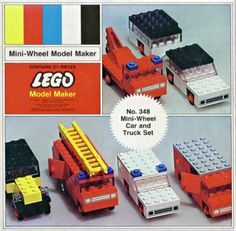 LEGO 348-2: Mini-Wheel Car and Truck Set | Brickset: LEGO set guide and database