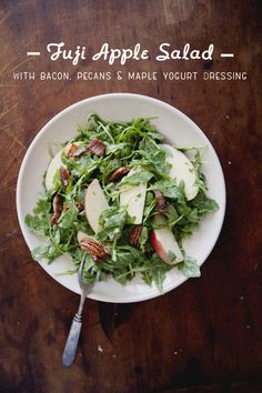 Fiji Apple Salad with Bacon, Pecans, & Maple Yogurt Dressing | The Kitchy Kitchen
