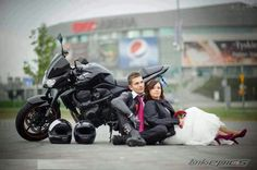 This picture will be recreated at my wedding.. cute biker couples