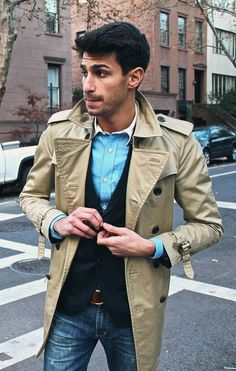 The trench: so classy.  Win an iPad3 - http://pinterest.com/uorlonline/competition  #fashion #mensfashion #style #work #smart #business
