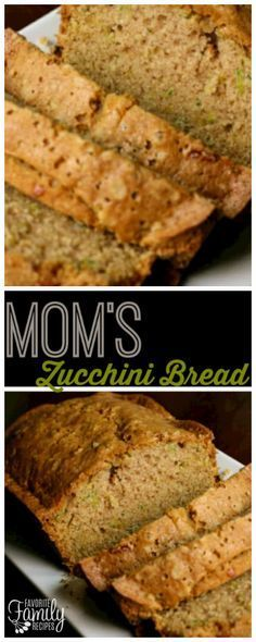 Our Mom's Zucchini Bread recipe is a no-fail zucchini bread recipe. The bread is moist and flavorful on the inside with a slightly crispy crust. via @favfamilyrecipz