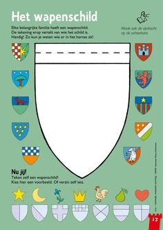 Medieval Crafts, Medieval Party, Castles Topic, Chateau Moyen Age, Castle Crafts, School Themes, Kids Church, Coat Of Arms, Primary School