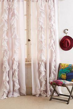 Ruffled curtains via Anthropologie