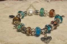 Sterling Silver Charm Bracelet with Sterling by grammysattic12, $124.99