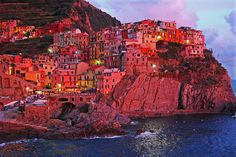 #pinadream.   Manarola - Late Afternoon Sun by Atilla2008, via Flickr