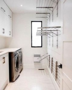 Laundry design ideas with drying room that you must try 02 Laundry Room Cabinets, Laundry Room Organization, Organization Ideas, Storage Ideas, Basement Laundry, Laundry Closet, Laundry Storage, Diy Cabinets, Organizing Tips