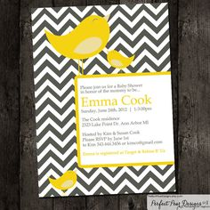Baby Shower Invitation Girl Twins Neutral  by PerfectPearDesigns, $15.00