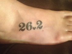 26.2 Marathon Tattoo with a heart instead of mickey ears