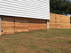 Raw cedar horizontal side by side fence. Installed by Titan Fence & Supply Comp… – Modern Design - Modern Cedar Fence, Wood Fences, Fencing, Building A Fence, Horizontal Fence, Modern Design, Outdoor Decor, Home Decor, Wordpress
