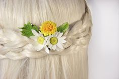 Nice present to any woman.  Handmade brooch or hairpin. All flowers are made one by one and put together by hand.  Gentle brooch with flowers of
