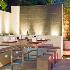 Patio Cinder Block Wall Design Ideas, Pictures, Remodel, and Decor